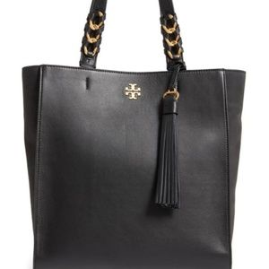 Tory burch brooke peebled leather/suede leather